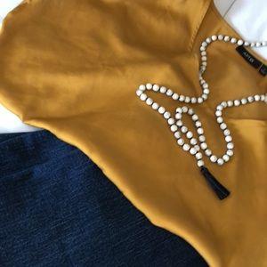 Apt 9 women's gold silky blouse, size medium